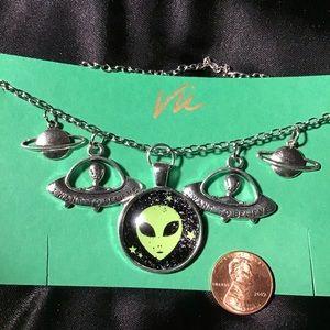 """Alien Necklace 19"""""""